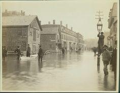 Stony Brook Flood, Ruggles Street, Roxbury, Mass., Feb. 1886 | General photographic collection (PC001) -- Historic New England