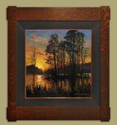 jan schmuckal original oil impressionism dard hunter studio frame arts and crafts