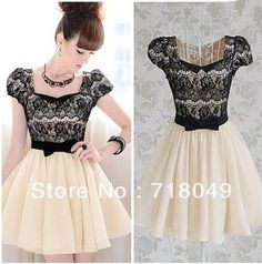 Cheap Dresses on Sale at Bargain Price, Buy Quality sleeve wedding dress, dress sleeve ideas, dress sleeve patterns from China sleeve wedding dress Suppliers at Aliexpress.com:1,Sleeve Style:Puff Sleeve 2,Style:Casual 3,Sleeve Length:Short 4,Pattern Type:Patchwork 5,Neckline:Square Collar