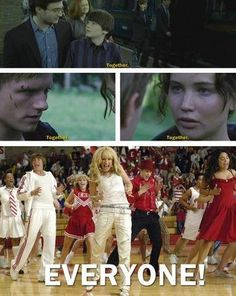 HSM and Hunger Games mashup.. How much do I love.<<<<< some how the forgot harry potter :'(