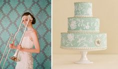 Antique Gold, Powdery Blue and Seafoam Green Wedding Inspiration