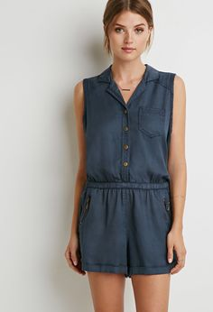 Contemporary Zippered Pocket Romper