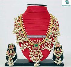 Traditional gottapusulu jewellery set. Order at www.facebook.com/booruguonline #indian #jewellery #bridal #festivewear #booruguonline