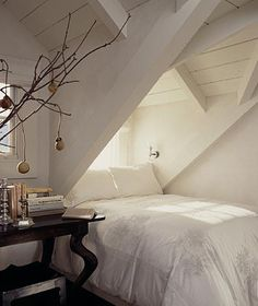 Gorgeous Attic remodel for storage,Attic room over garage and Attic bedroom design ideas. House Design, Alcove Bed, Beautiful Bedrooms, Home, Home Bedroom, Bedroom Design, House Interior, Bedroom Inspirations, Interior Design