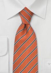 XXL-Krawatte Streifen-Dessin kupfer nachtschwarz günstig kaufen