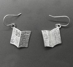 Hey, I found this really awesome Etsy listing at https://www.etsy.com/listing/209236113/newspaper-earrings-reporter-editor