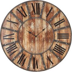 I pinned this Plank Wall Clock from the Remodelaholic event at Joss and Main!