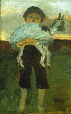 Paula Modersohn-Becker-Junge mit Ziege