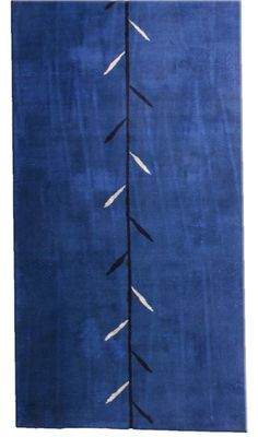 A Chinese Deco rug BB3352 - by Doris Leslie Blau.  A modern second quarter 20th century Deco rug from China, the lush open indigo blue field with an overblown ...