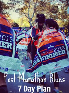 Post Marathon Blues Recovery ~ What happens when you've crossed that big goal off your list?
