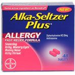 Alka Seltzer Plus Allergy Relief Tablets, 48 ct.