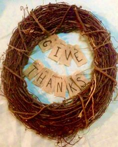 A personal favorite from my Etsy shop https://www.etsy.com/listing/253245026/give-thanks-wreath
