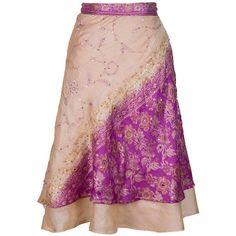 Silk Wrap Skirt, Sari Skirt, Embroidered Skirt, Long Skirt, Boho Chic... (4,335 INR) ❤ liked on Polyvore featuring skirts, long boho skirts, plus size skirts, wrap skirt, long wrap skirt and bohemian skirts