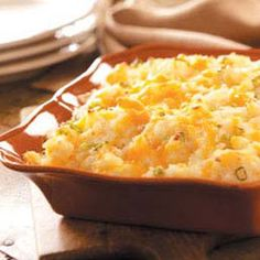 Rich N Creamy Potato Casserole Recipe -My husband, a pastor, and our three children enjoy these potatoes so much that I don't wait until the holidays to make them. This casserole often comes out when we invite church members over for a family-style meal. Side Dish Recipes, Side Dishes, Potatoe Casserole Recipes, Potato Recipes, Potato Dishes, Pasta, Food For Thought, Love Food, Cooking Recipes