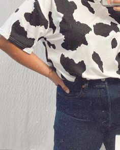 """it's me j e s s i c a ✌︎︎ on Instagram: """"just a COW-sual day 🐮"""" Cow, Profile, Instagram, Style, User Profile, Swag, Cattle, Outfits"""