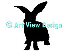 Our Rabbit Silhouette Design || Original and one of a kind || Pattern can be used for everything and every cutting machine || ♡