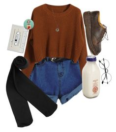 """""""milky"""" by eden-kolb on Polyvore featuring Chicnova Fashion, Monki, Dr. Martens and Melissa Joy Manning"""