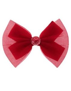 b6037944c1118 NEW Gymboree Red Tulle Bow Barrette Hair Accessory Valentine Day Merry  Occasions  fashion  clothing