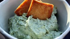 Creamy Pesto Dip...check it out at Rachael Ray's site.
