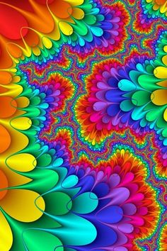 rainbow colours ✿ fractal