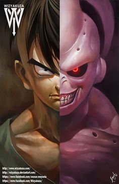 ¡ UB y Kid Buu Split - Dragon Ball Z - impresión Digital de 11 x 17