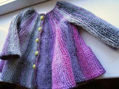 Eu que Fiz - Vovó Baisa: Casaquinho para bebê feito na vertical - tricõ