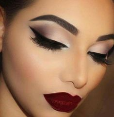 Dramatic eyes and lips