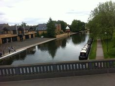 Cambridge canal,UK  Amazing place to be at during the summers.