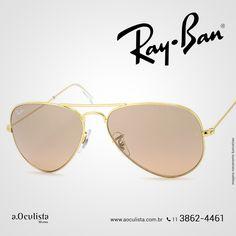 Óculos de Sol Ray Ban Aviador❤️  Compre em Até 10x Sem Juros e frete grátis nas compras Acima de R$400,00  Acesse: www.aoculista.com.br/ray-ban  #rayban #glasses #oculos #eyeglasses #sunglasses