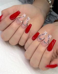 78 Hottest Classy Acrylic Coffin Nails Long Designs For Summer Nail Color - Coffin & Stiletto Nails Design - Red Acrylic Nails, Simple Acrylic Nails, Acrylic Art, Red Ombre Nails, Cute Acrylic Nail Designs, Red Nail Designs, Art Designs, Design Ideas, Coffin Nails Long