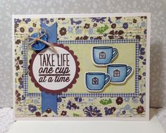 Card by Luanne Ford using One Cup from Verve.  #vervestamps