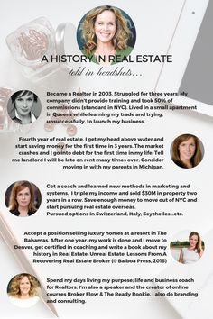You can make something similar on Canva. You can share your history of how you got into real estate and the journey you've been on. Follow me @stefshock for more ideas.