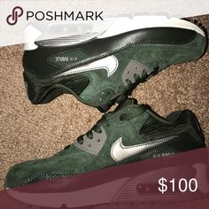Olive Green AirMax 90 White , sliver , olive green Nike AirMax 90 Nike Shoes Sneakers
