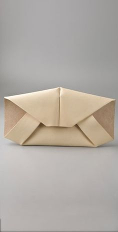 Ports 1961 Envelope Clutch--might be the cutest thing ever, origami inspired