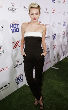 Here is Miley Cyrus at the Maxim Hot 100 party this week.  Want the same look?  Saks has this Valentino jumper!!!  http://www.saksfifthavenue.com/main/ProductDetail.jsp?FOLDER%3C%3Efolder_id=2534374306418048%3C%3Eprd_id=845524446533904=8051047143931_name=Valentino=4294912353+306418048+399545540=jX2WrG.  #valentino #vogue