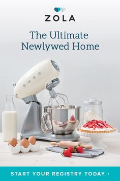 Upgrade your kitchen game and register for the best of Smeg, KitchenAid, Vitamix, and 450 more top brands from Zola, the wedding registry that'll do anything for love.