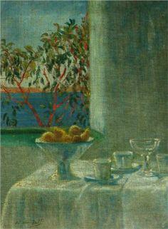 Salvador Dali (1904 - 1989)   Post- Impressionism   Still Life by a Window - 1920