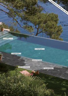 Total coordinación de la piscina y todo el espacio que la rodea. #rosagres #mistery #outdoorsdesign #gresporcelanico #porcelainstoneware #trend #totalcoordination #designpools