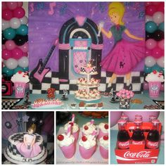 ShopPartyTales / Milenna S's Birthday / Sock Hop Theme diner - Sock Hop Diner at Catch My Party Grease Themed Parties, 50s Theme Parties, Grease Party, Fifties Party, 1950s Party, Retro Party, Sock Hop Party, Diner Party, 50th Birthday Party
