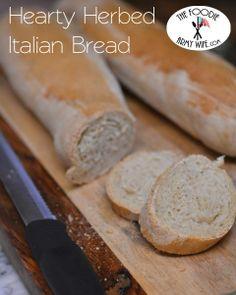 Hearty Herbed Italian Bread.