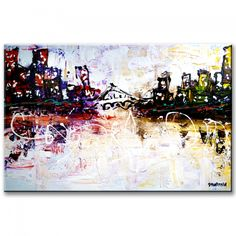 Global cities, abstract painting by Peter Dranitsin