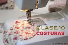 Coser a máquina: costura lineal, en esquinas y en curva