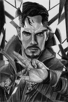 Doctor Strange inside the mirror dimension Art Drawings Sketches Simple, Cool Drawings, Pencil Art Drawings, Marvel Fan Art, Marvel Comics Art, Iron Man Drawing, Avengers Drawings, Celebrity Drawings, Marvel Wallpaper
