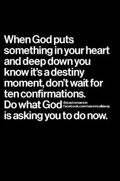 Do what God is asking