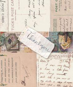 Laminas decoupage: Laminas antiguas de cartas. escrituras antiguas.sellos...