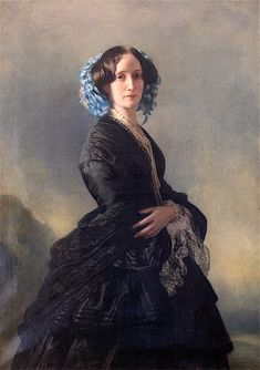 1854 Sophie Wilhelmine, Großherzogin von Baden, née Princess of Sweden by Franz Xaver Winterhalter (private collection) Wm Franz Xaver Winterhalter, 1850s Fashion, Edwardian Fashion, Female Portrait, Female Art, Potrait Painting, Grand Duc, Victorian Paintings, Royal Art