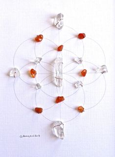 SACRAL CHAKRA  framed sacred crystal grid  by CrystalGrids on Etsy, $85.00
