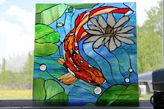 Koi stained glass panel by DayInTheSun - Delphi Artist Gallery