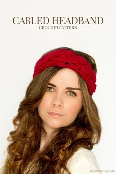 Hopeful Honey   Craft, Crochet, Create: Chunky Cabled Headband Crochet Pattern