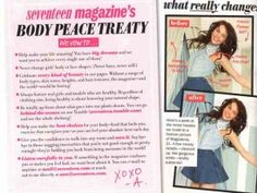 """(Expository and Persuasive) """"Eighth Grader Persuades Seventeen To Stop Photoshopping The Girls In Its Magazine"""" with a petition signed by 84,000 people! Kids should know that THEY can make a difference. Excellent example of the effects of good persuasion!"""